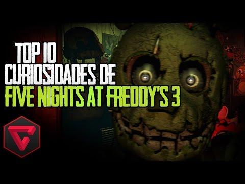 TOP 10 CURIOSIDADES DE FIVE NIGHTS AT FREDDYS 3
