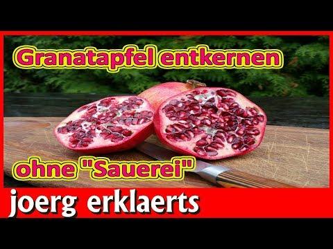 Ohne Sauerei Granatapfel entkernen POMEGRANATE OPENING Tutorial Nr.219
