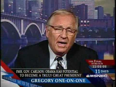Former Republican Governor Arne Carlson endorses Obama