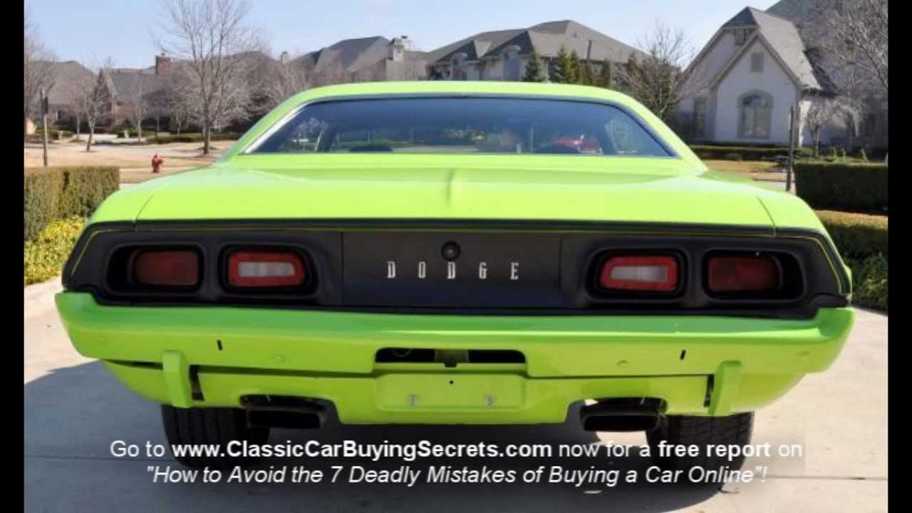 Hellcat For Sale >> 1973 Dodge Challenger Classic Muscle Car for Sale in MI Vanguard Motor Sales - YouTube