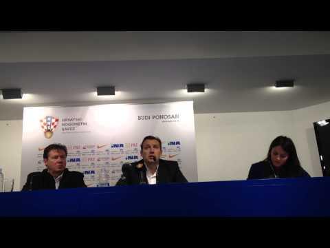 Persconferentie Wilmots, Conference de presse Wilmots, Croatia -  Belgium