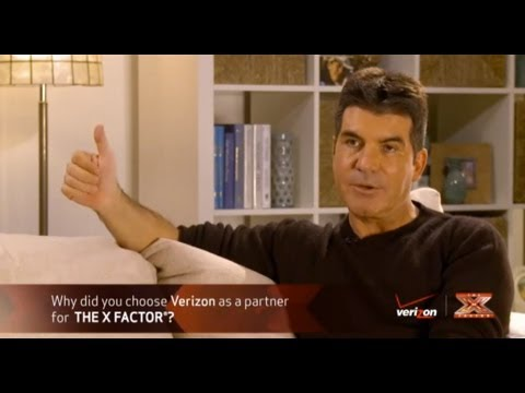 Verizon Wireless - On Set with Simon Cowell at The X Factor on Youtube