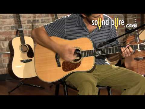 Santa Cruz Tony Rice Dreadnought Acoustic Guitar Demo