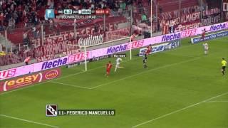 Gol de Mancuello.Independiente 5 Quilmes 3.Fecha 7.Torneo Primera División 2014. Fútbol Para Todos