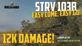 World of Tanks ► 12K Damage • Strv 103B • VielGefummel0Penetration