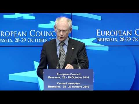 Herman van Rompuy outlines EU Council Summit progress - Oct. 2010
