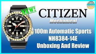 Citizen 100m Automatic Sports NH8384-14E Unboxing And Review