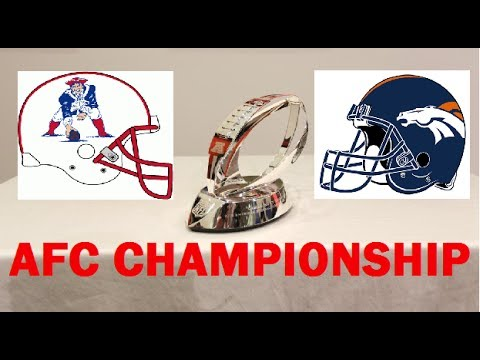 The AFC Championship of the 2014 National Football League Playoff's will be the #2 Seed New England Patriots vs. the #1 Seed Denver Broncos on January 19, 20...
