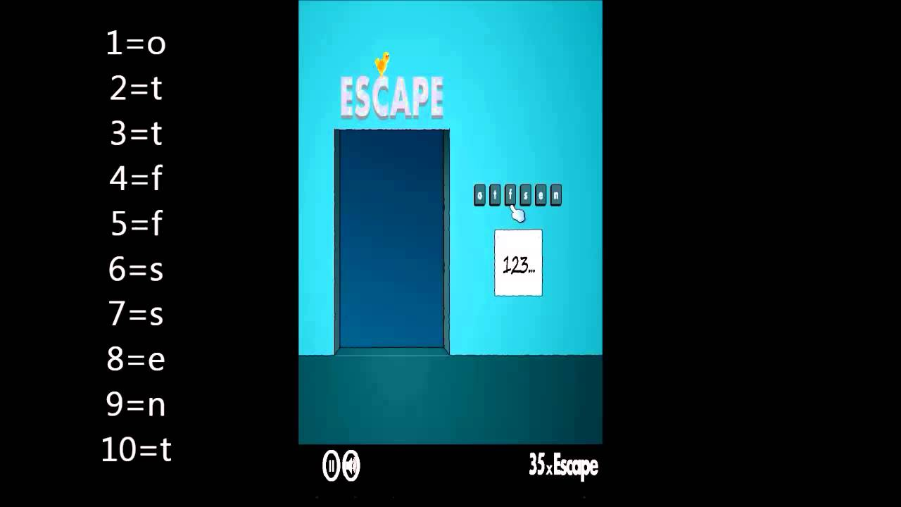40x escape level 35 walkthrough youtube. Black Bedroom Furniture Sets. Home Design Ideas