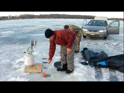Ice Fishing @ Spring Lakes, MN Feb 2012