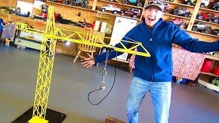 This 3 Motor, GiANT 5' Radio Control Crane is Pure Genius  | RC ADVENTURES