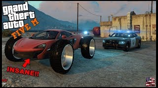 "GTA 5 ROLEPLAY - RUINING A MCLAREN WITH EBAY SPACERS AND 42"" TIRES!! - EP. 782 - AFG - CIV"