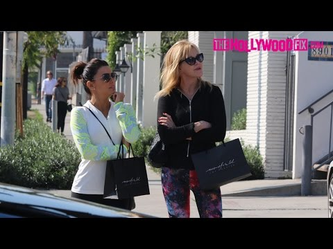 Melanie Griffith And Eva Longoria Shopping In West Hollywood 2.3.15