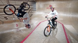 NEW Skatepark Tricks on the BMX / MTB Hybrid!!