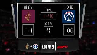 Cavaliers @ Wizards LIVE Scoreboard - Join the conversation and catch all the action on ESPN!