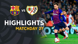 Highlights FC Barcelona vs Rayo Vallecano 3-1