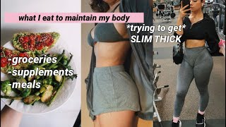 WHAT I EAT/supplements /6 month body transformation | daisy b