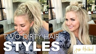 HOW TO: Mohawk Bun + Mohawk Braid | 3 MINUTE Dirty Hairstyle Tutorial! | Jess Hallock