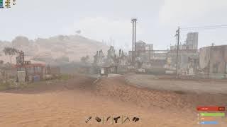 RUST underwater scientist outpost on procedural map