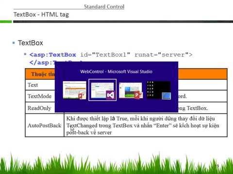 Phát triển ứng dụng Web-Bài 03: ASP NET Web Controls