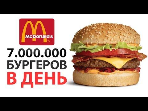 7.000.000 бургеров в ДЕНЬ! Насколько велик McDonald's?