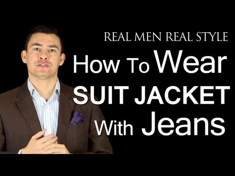 How To Wear A Men's Suit Jacket With Jeans - How To Pull Off Denim & Suit Jackets - Style Tips video