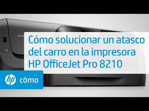 Cómo solucionar un atasco del carro en la impresora HP OfficeJet Pro 8210