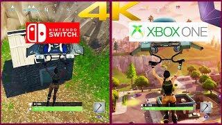Fortnite on Nintendo Switch vs Fortnite on Xbox One | Fortnite Comparison | 4K60 FPS 2160P