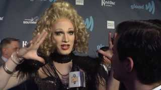 MEL B and Jinkx Monsoon interview at GLAAD Media Awards SF 2013