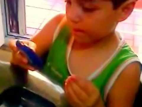 How to measure blood glucose by Bayer Counter TS ( Muhammed 5 year old)