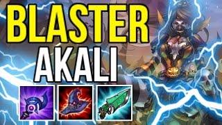 BLASTER ONE-SHOT AKALI BUILD IS LETHAL (AKALI BUILD CHALLENGE) | League of Legends