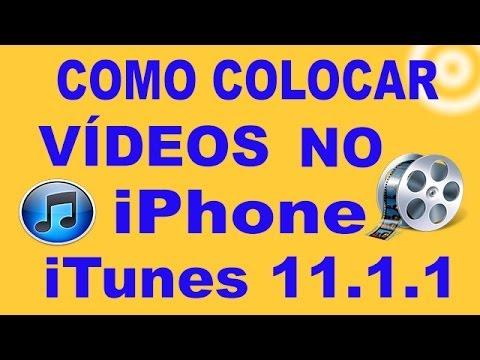 Como colocar vídeos no iPhone com iTunes 11.1.1
