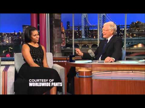 Micheele Obama on Letterman Before DNC Democratic National Convention