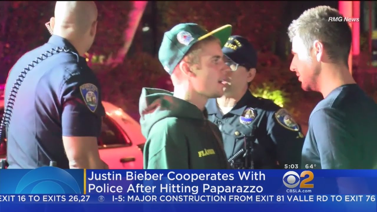 Justin Bieber Hits Photographer While Leaving Beverly Hills Church