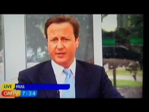 David Cameron squirms on GMTV over new Two Faced Tory NHS claim