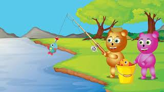 Mega Gummy Bear Going Fishing   Finger Family Song