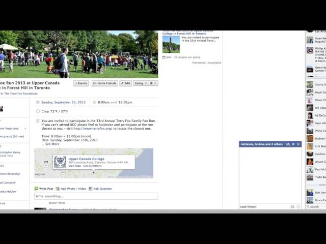 2013 Terry Fox Facebook Event Page Tips