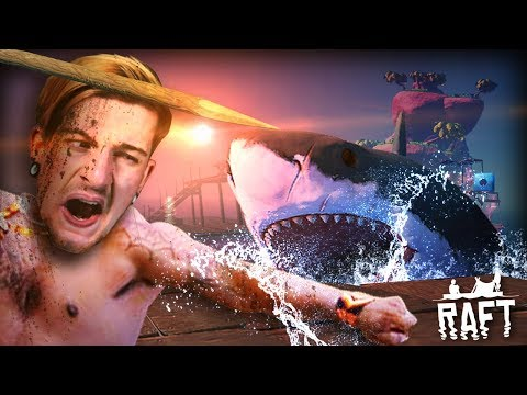 STRANDED IN THE OCEAN (+ Abandoned Rafts!?) || RAFT (Part 1) Full Release thumbnail