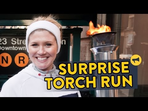 Surprise Torch Run video