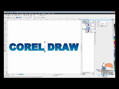 Efecto de Texto Brillante en Corel Draw - Entrenamiento Creativo