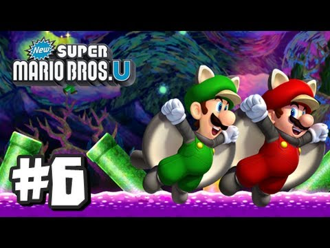 New Super Mario Bros U Wii U - Part 6 World 5-Airship, 5-1, 5-2, 5-3, 5-Tower, 5-Boo House, & 5-4