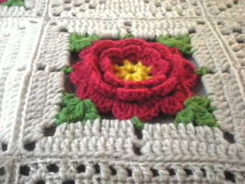 T&P - Red Roses in the Desert - Sorry I have NO pattern, just match the colours!