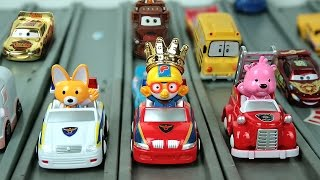 Pororo Toys cars - Cars 2 Racing Set Lightning McQueen - Гоночные машины Тачки 2