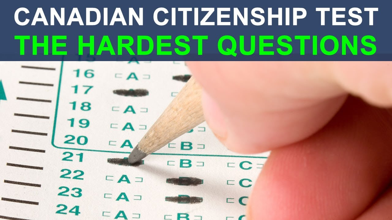 Canadian Citizenship Test/Exam 2015 - Most Difficult Questions ...