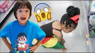 Telling Mimi She's Off Punishment + Surprising Her With Ryan ToyReview TOYS! (She Fainted!)