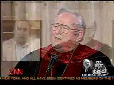 Christopher Hitchens on Rev. Jerry Falwell's death