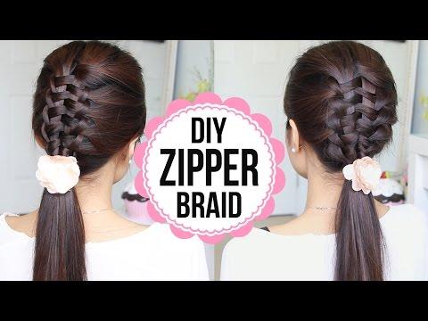 Zipper Braid Hair Tutorial (2 Ways) - Cipzár fonás