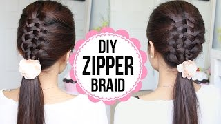Zipper Braid Hair Tutorial (2 Ways) | Braided Hairstyles