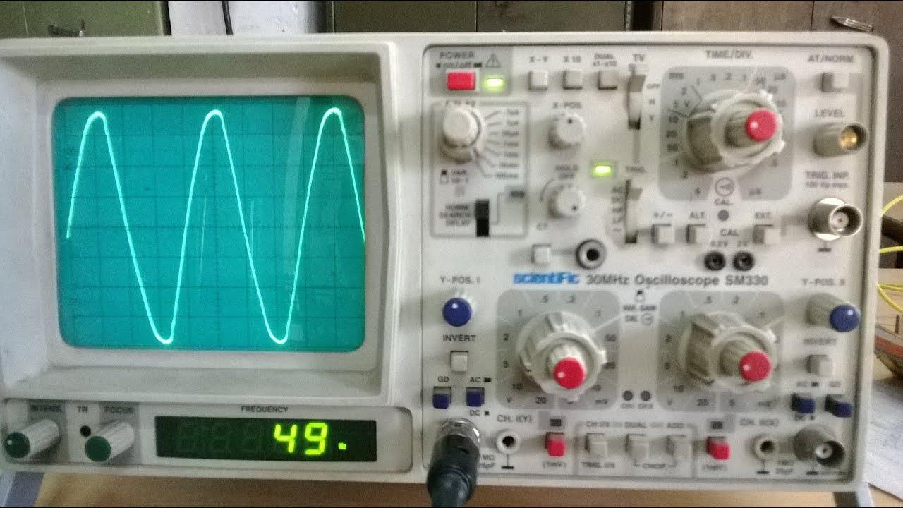 Cro Cathode Ray Oscilloscope Youtube