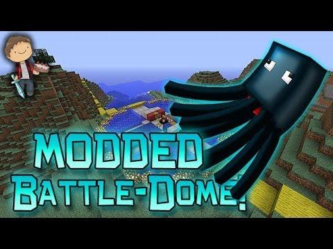 Minecraft: MODDED MORPH BATTLE-DOME w/Mitch & Friends Part 2 - SQUID NOOOO!